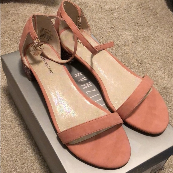 5aee2a1587f11 Blush Pink Sandals with glitter heel